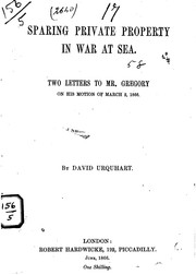Cover of: Sparing private property in war at sea