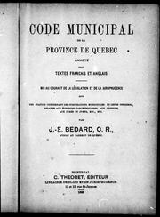 Cover of: Code municipal (1871)
