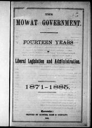 Cover of: The Mowat government