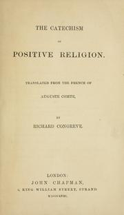 Cover of: The catechism of positive religion