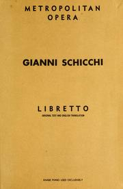 Cover of: Gianni Schicchi
