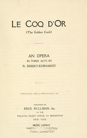 Cover of: Zolotoi petushok: The golden cock : an opera in three acts
