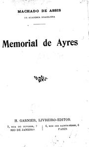 Cover of: Memorial de Ayres