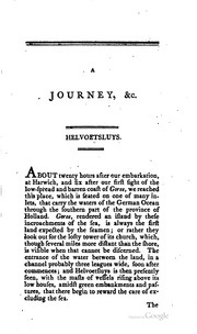 Cover of: A journey made in the summer of 1794, through Holland and the western frontier of Germany, with a return down the Rhine