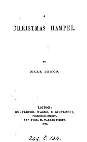 Cover of: A Christmas hamper