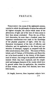 Cover of: A treatise on light and vision