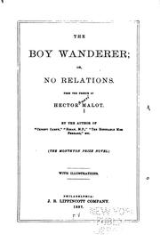 Cover of: The Boy Wanderer Or, No Relations