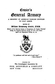 Cover of: Crozier's General Armory: A Registry of American Families Entitled to Coat Armor