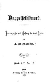 Cover of: Doppelselbstmord: Bauernposse mit Gesang in drei Akten