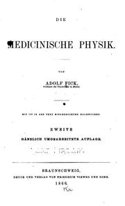 Cover of: Die medicinische Physik