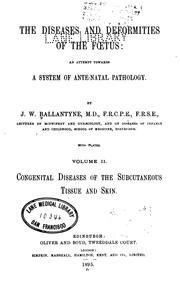 Cover of: The Diseases and deformities of the fœtus v. 2
