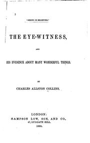 Cover of: The Eye-witness,