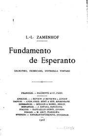 Cover of: Fundamento de Esperanto