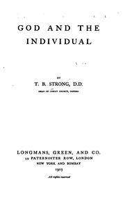 Cover of: God and the Individual