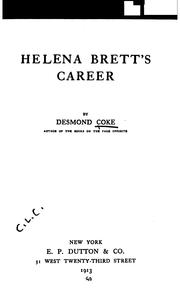 Cover of: Helena Brett's Career