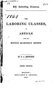 Cover of: The Laboring Classes: An Article from the Boston Quarterly Review