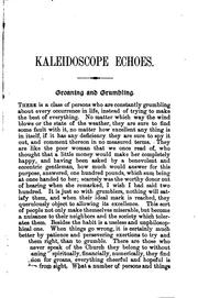Cover of: Kaleidoscope Echoes, Being Historical, Philosophical, Scientific, and Theological Sketches, from ..