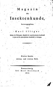 Cover of: Magazin für Insektenkunde