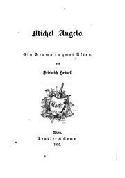 Cover of: Michel Angelo: Ein Drama in zwei Akten
