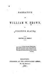 Cover of: Narrative of William W. Brown, a Fugitive Slave