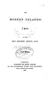 Cover of: The Modern Orlando: A Poem