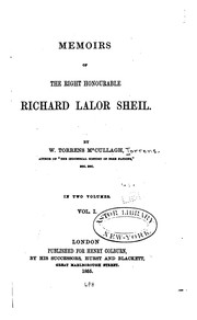 Cover of: Memoirs of the Right Honourable Richard Lalor Sheil
