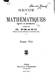 Cover of: Rivista di matematica