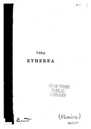 Cover of: Vida etherea