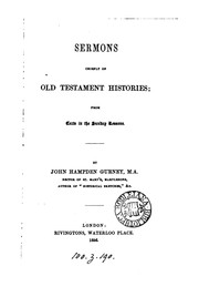 Cover of: Sermons, chiefly on Old Testament histories