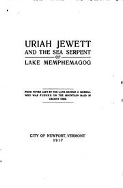 Cover of: Uriah Jewett and the Sea Serpent of Lake Memphemagog