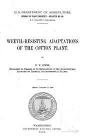 Cover of: Weevil-resisting Adaptions of the Cotton Plant