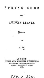 Cover of: Spring Buds and Autumn Leaves