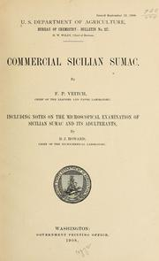 Cover of: Commercial Sicilian sumac