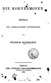 Cover of: Die Korndämonen
