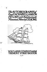 Cover of: The avtobiography of Capt. Z. Lamson, 1797-1814