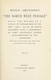 "Cover of: Roald Amundsen's ""The North West passage"": being the record of a voyage of exploration of the ship Gjøa, 1903-1907"