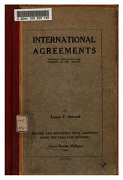Cover of: International Agreements Without the Advice and Consent of the Senate