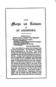 Cover of: The Martyrs and Confessors of St. Andrews