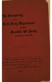 Cover of: The conspiracy in the United States
