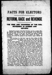 Cover of: Reform, race, and revenge