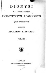 Cover of: Antiquitates romanae