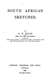 Cover of: South African Sketches