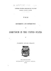 Cover of: The occurrence and distribution of corundum in the United States