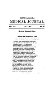 Cover of: The Medical Journal of North Carolina
