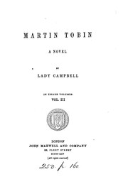 Cover of: Martin Tobin