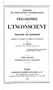Cover of: Philosophie de l'inconscient