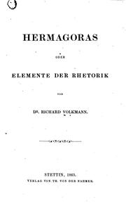 Cover of: Hermagoras oder Elemente der Rhetorik