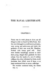 Cover of: The naval lieutenant: A Nautical Romance. In Three Volumes