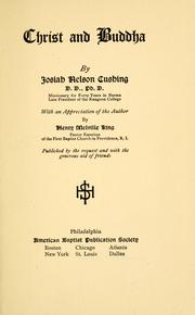 Cover of: Christ and Buddha