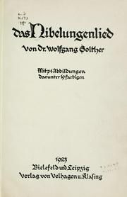 Cover of: Das Nibelungenlied